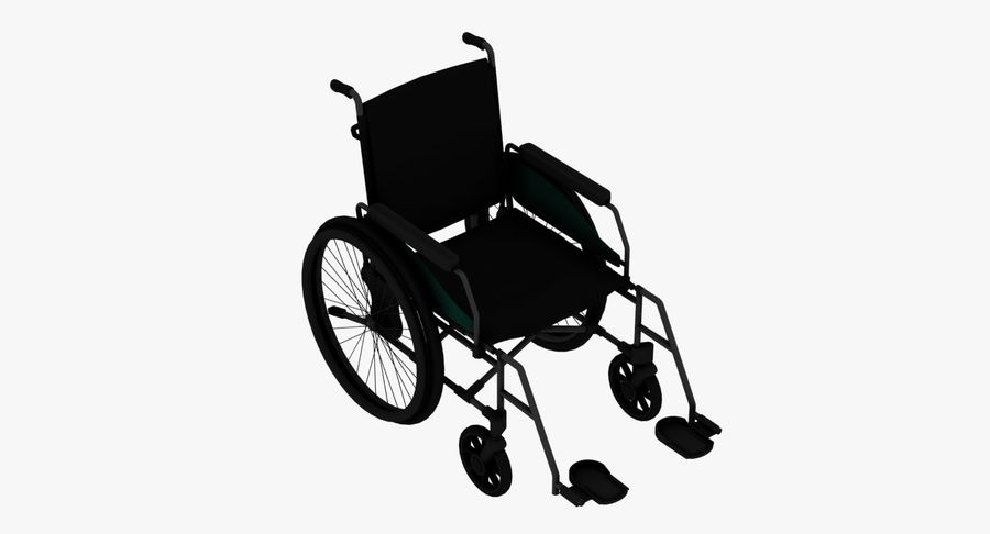 Wheel Chair royalty-free 3d model - Preview no. 2