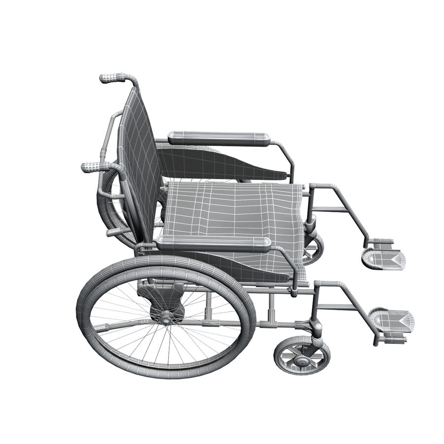 Wheel Chair royalty-free 3d model - Preview no. 10