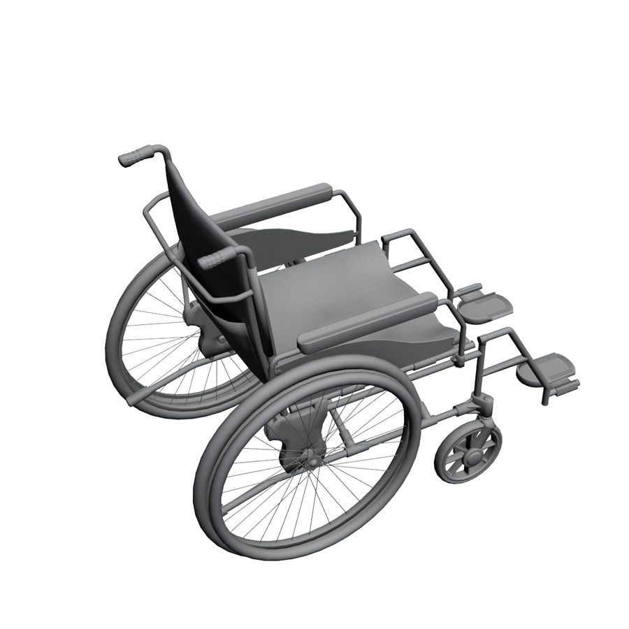 Wheel Chair royalty-free 3d model - Preview no. 9