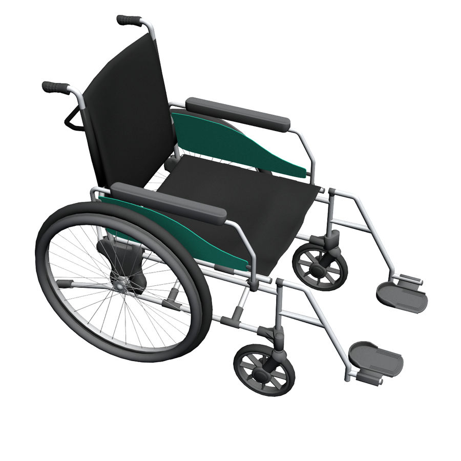 Wheel Chair royalty-free 3d model - Preview no. 5