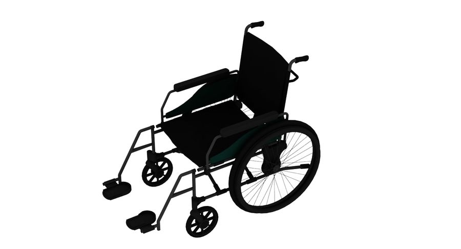 Wheel Chair royalty-free 3d model - Preview no. 3