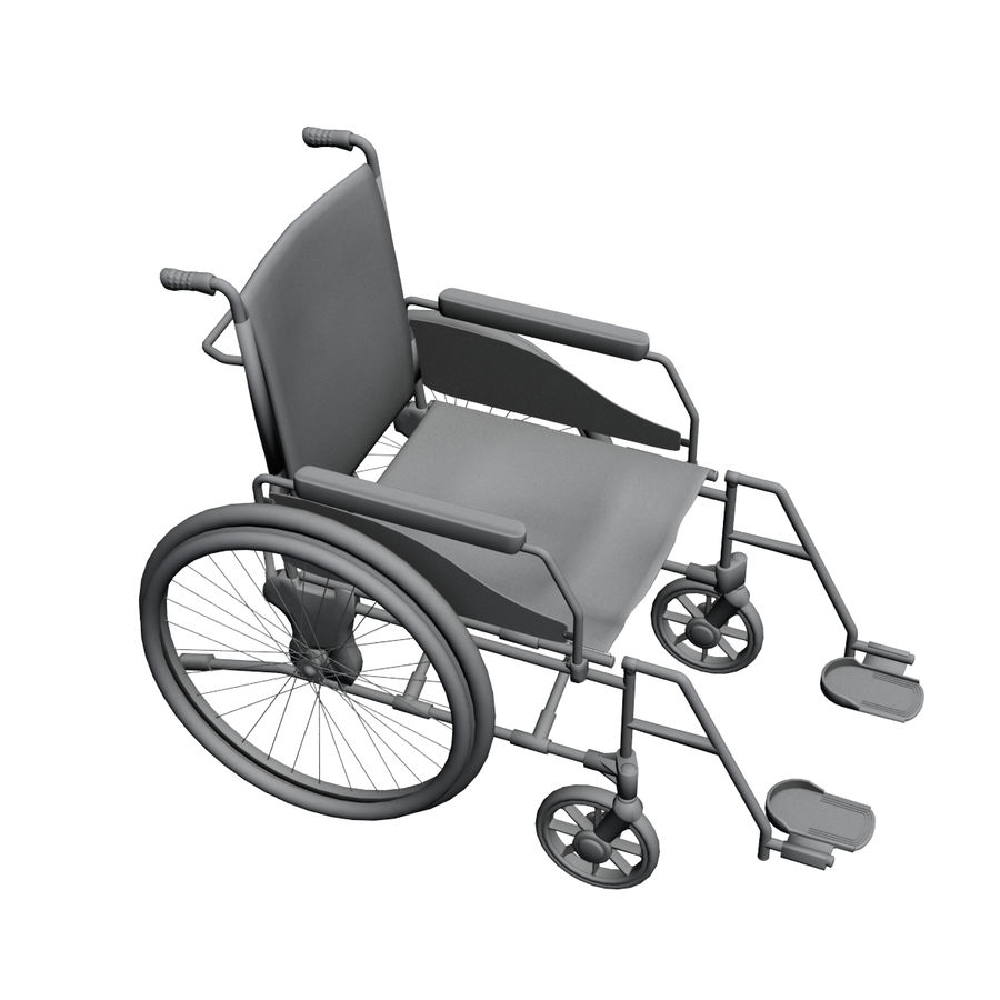 Wheel Chair royalty-free 3d model - Preview no. 6