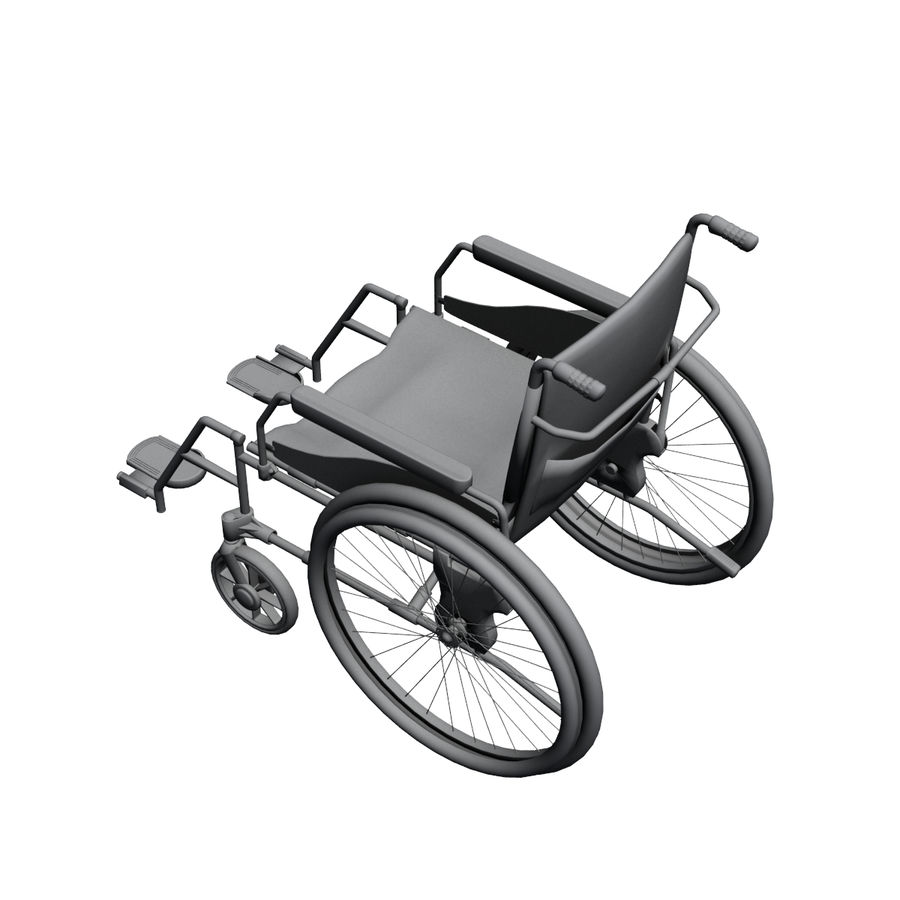 Wheel Chair royalty-free 3d model - Preview no. 8