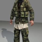 Afgański żołnierz w czasie rzeczywistym 2 3d model