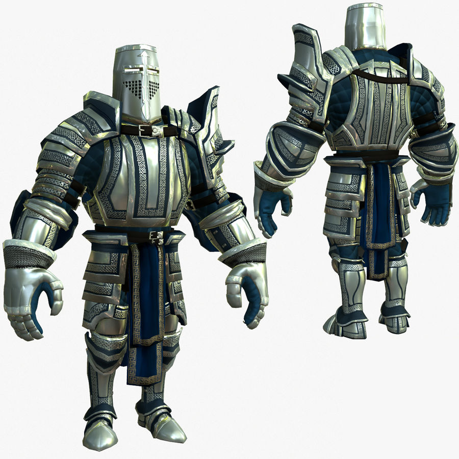 Game Knights (Series A) K2c royalty-free 3d model - Preview no. 1