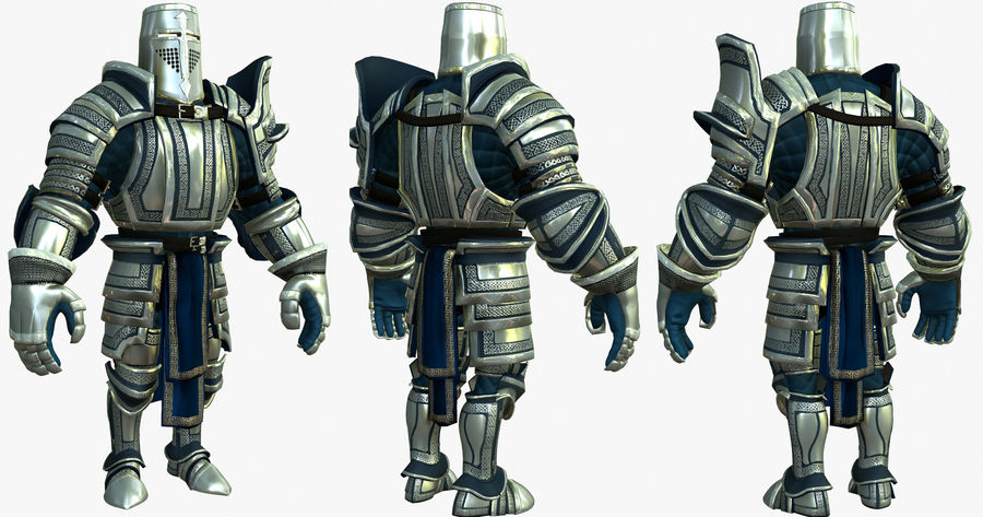 Game Knights (Series A) K2c royalty-free 3d model - Preview no. 23