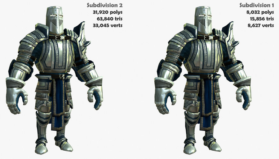 Game Knights (Series A) K2c royalty-free 3d model - Preview no. 2