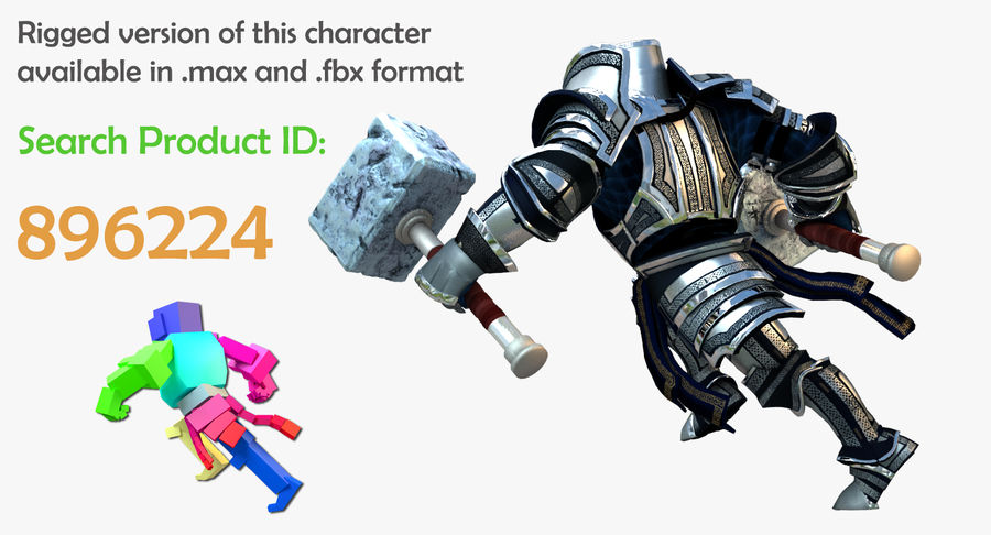 Game Knights (Series A) K2c royalty-free 3d model - Preview no. 39