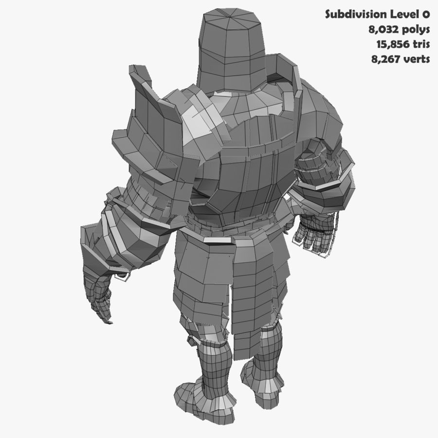 Game Knights (Series A) K2c royalty-free 3d model - Preview no. 34