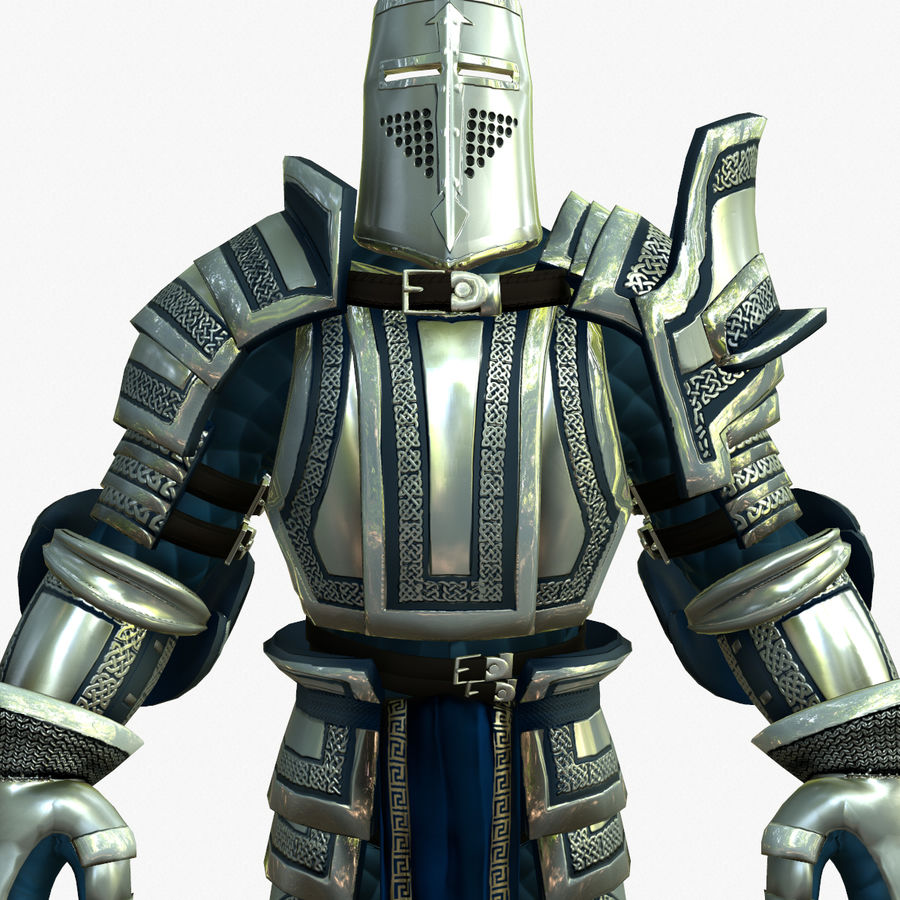 Game Knights (Series A) K2c royalty-free 3d model - Preview no. 13