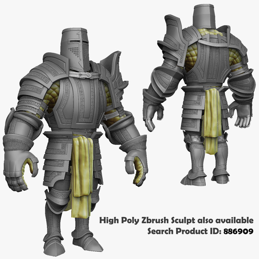 Game Knights (Series A) K2c royalty-free 3d model - Preview no. 38