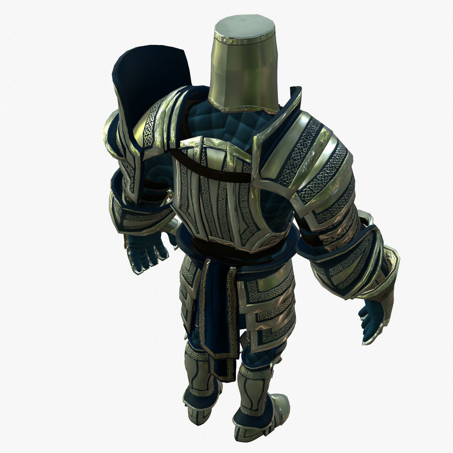 Game Knights (Series A) K2c royalty-free 3d model - Preview no. 4