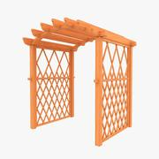 Wooden Archway 3d model