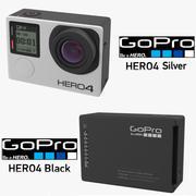 Kolekcja GoPro Hero 4 3d model