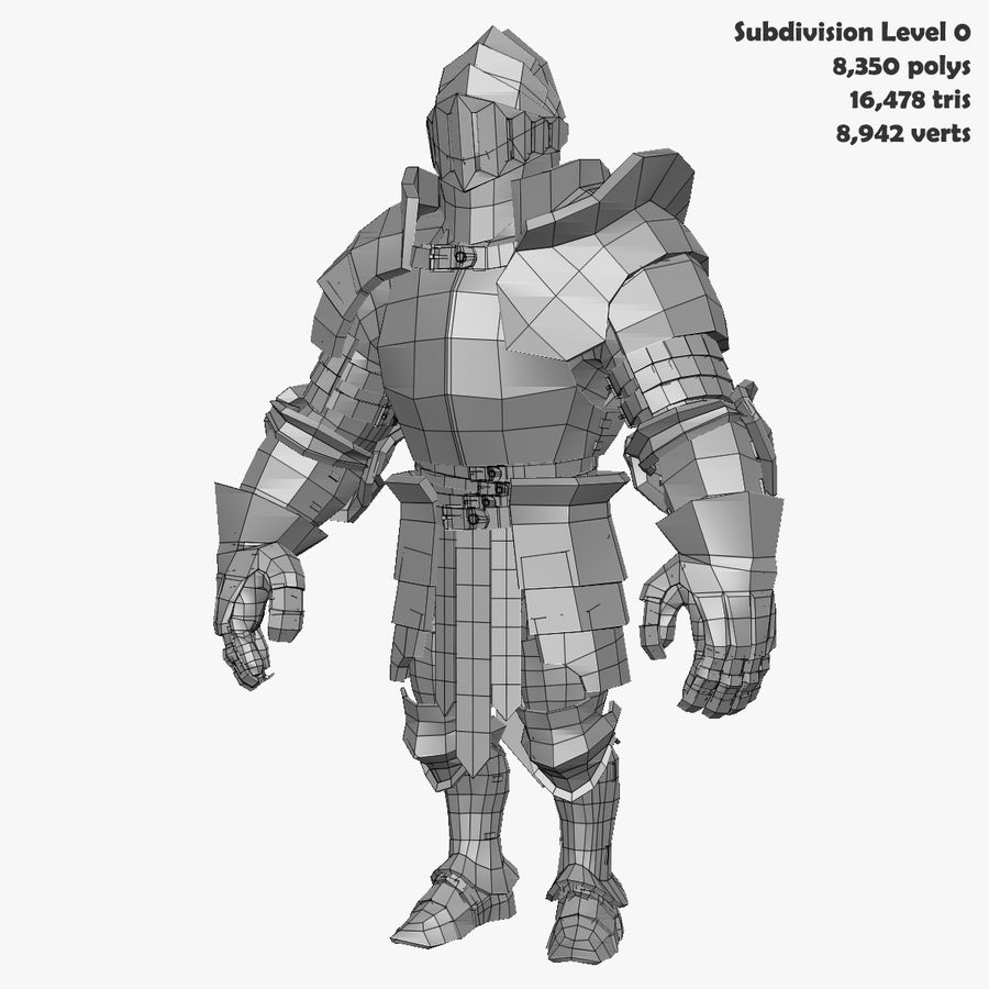Game Knights (Series A) K3b royalty-free 3d model - Preview no. 31