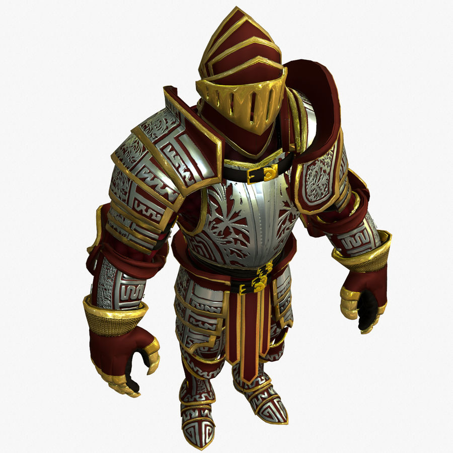 Game Knights (Series A) K3b royalty-free 3d model - Preview no. 16