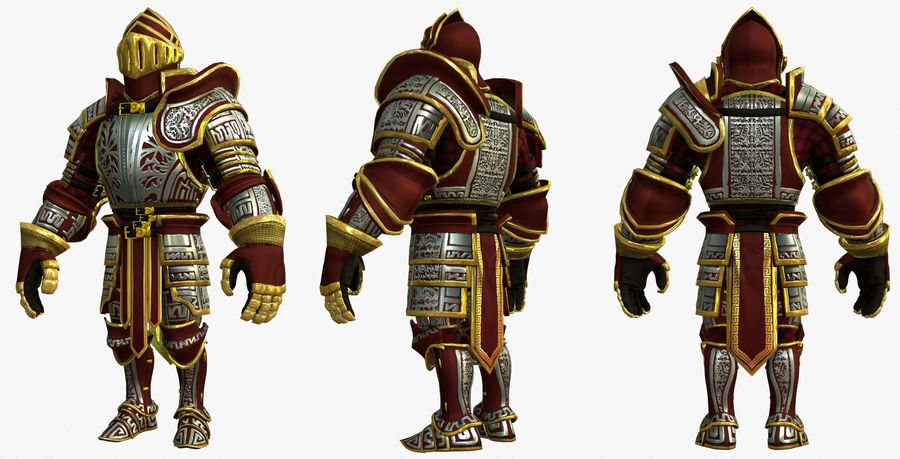 Game Knights (Series A) K3b royalty-free 3d model - Preview no. 20