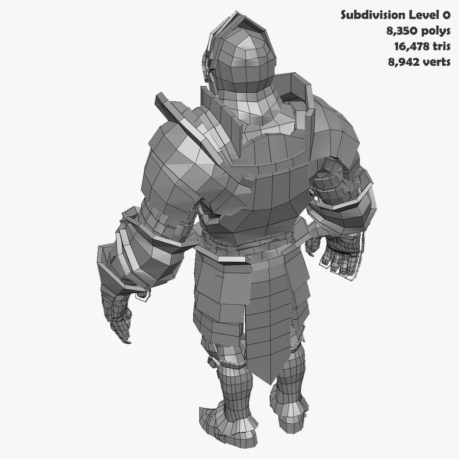 Game Knights (Series A) K3b royalty-free 3d model - Preview no. 33
