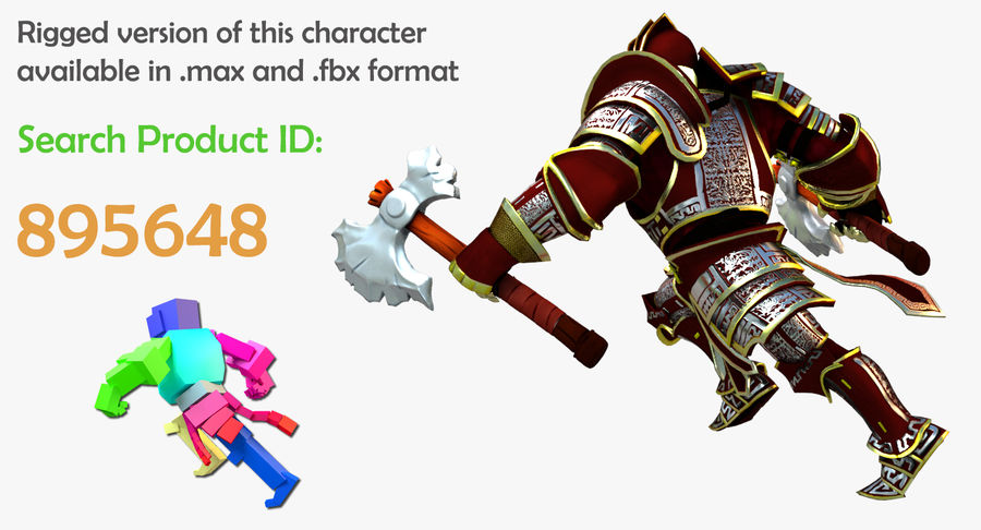 Game Knights (Series A) K3b royalty-free 3d model - Preview no. 2