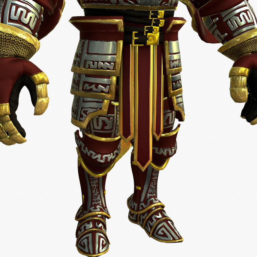 Game Knights (Series A) K3b royalty-free 3d model - Preview no. 17