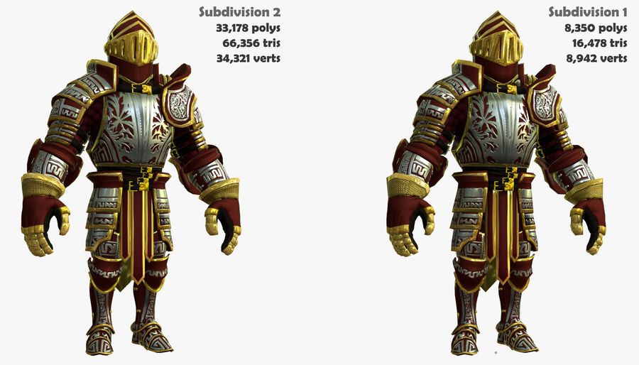 Game Knights (Series A) K3b royalty-free 3d model - Preview no. 3