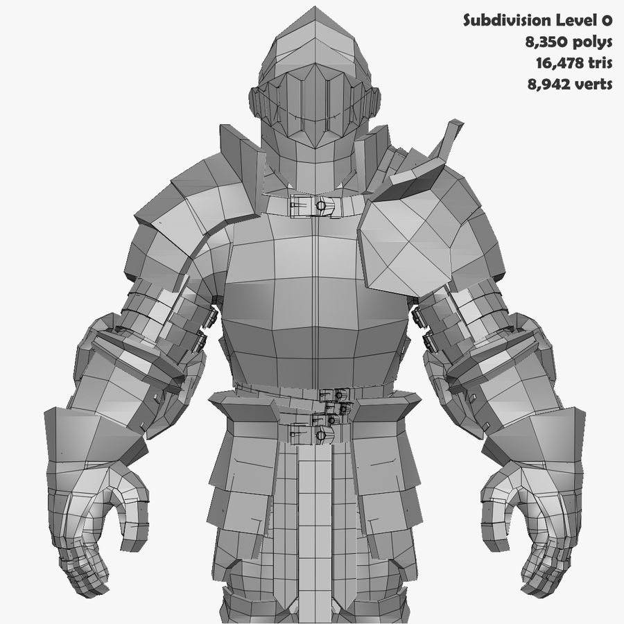 Game Knights (Series A) K3b royalty-free 3d model - Preview no. 35