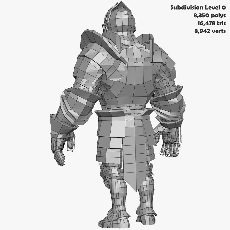 Game Knights (Series A) K3b royalty-free 3d model - Preview no. 32