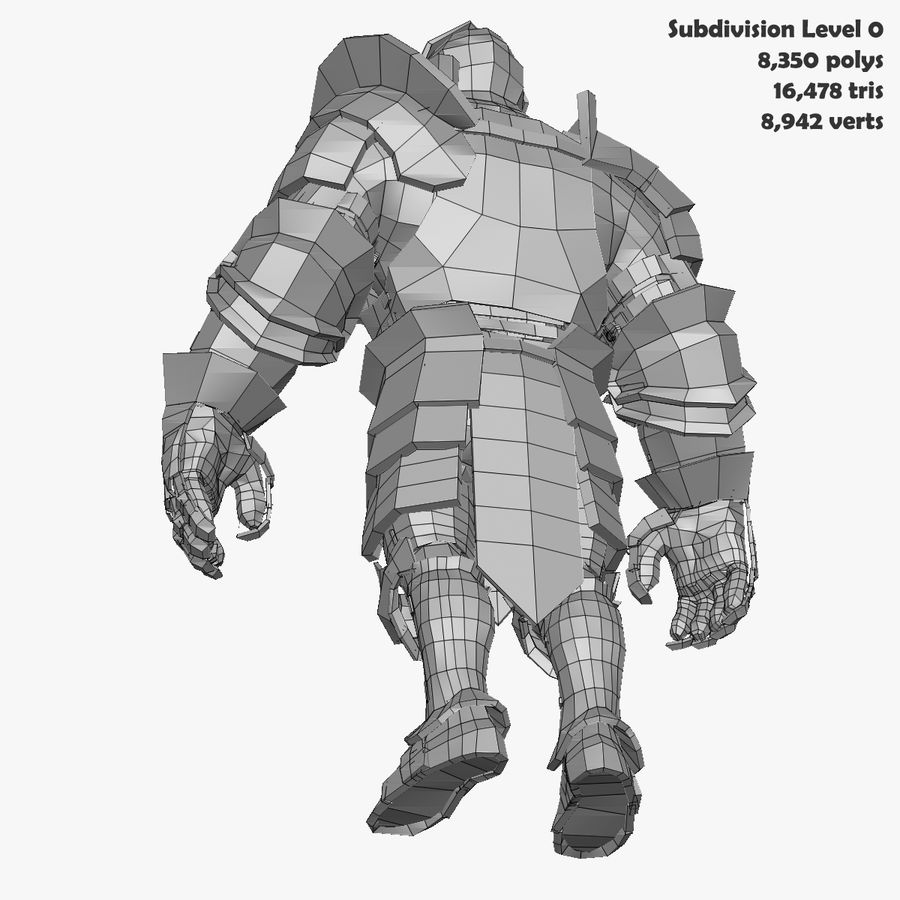 Game Knights (Series A) K3b royalty-free 3d model - Preview no. 34