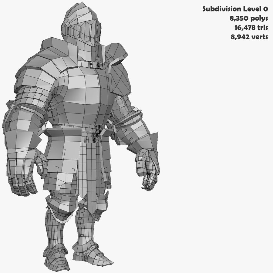 Game Knights (Series A) K3b royalty-free 3d model - Preview no. 36