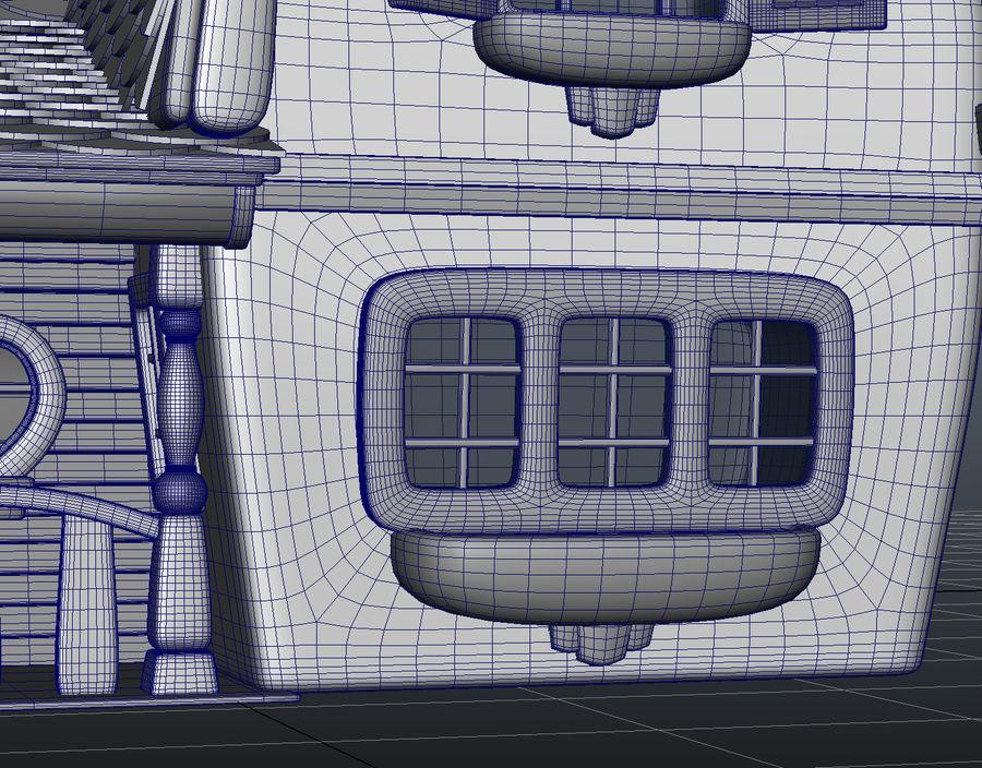 Maya Masal karikatür evi royalty-free 3d model - Preview no. 15