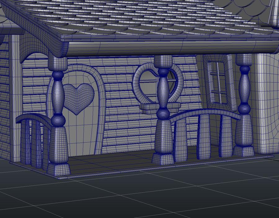 Maya Masal karikatür evi royalty-free 3d model - Preview no. 14