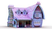 Maya Masal karikatür evi 3d model