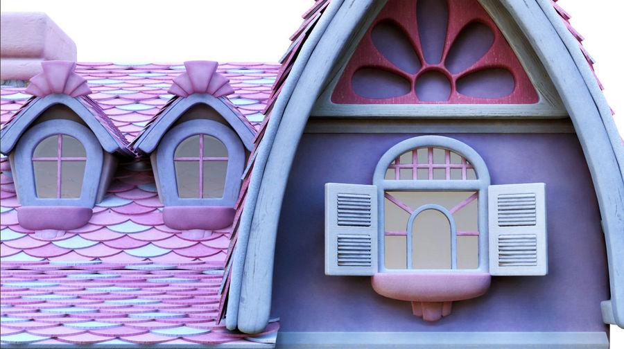 Maya Masal karikatür evi royalty-free 3d model - Preview no. 7