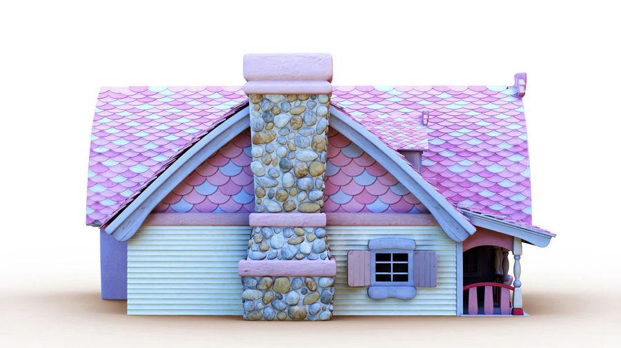 Maya Masal karikatür evi royalty-free 3d model - Preview no. 4