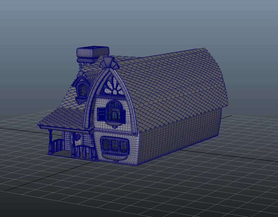 Maya Masal karikatür evi royalty-free 3d model - Preview no. 9