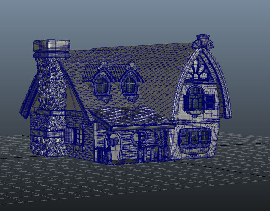 Maya Masal karikatür evi royalty-free 3d model - Preview no. 8