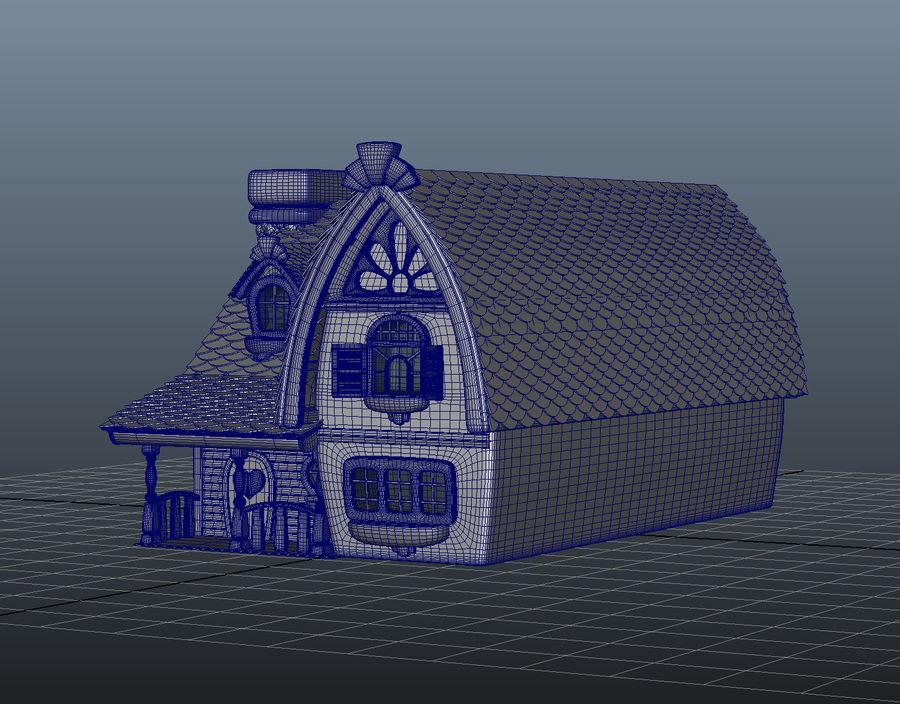 Maya Masal karikatür evi royalty-free 3d model - Preview no. 10