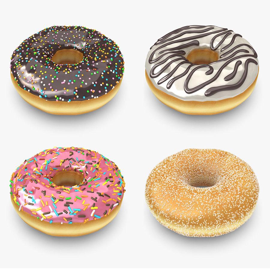 도넛 컬렉션 royalty-free 3d model - Preview no. 1