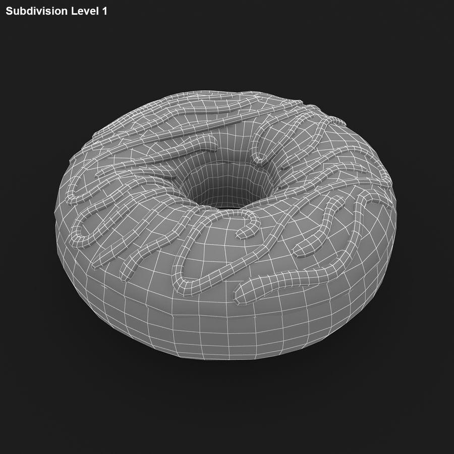 Donut Collection royalty-free 3d model - Preview no. 13