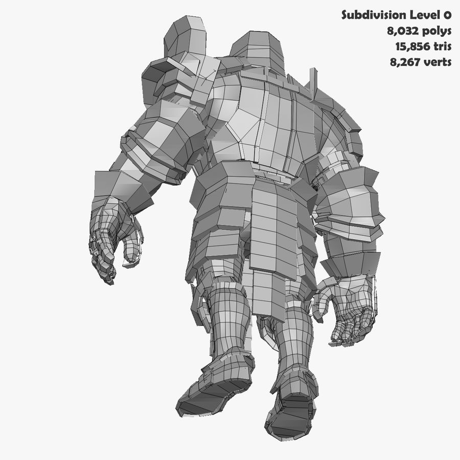 Game Knights (Series A) K2b royalty-free 3d model - Preview no. 31
