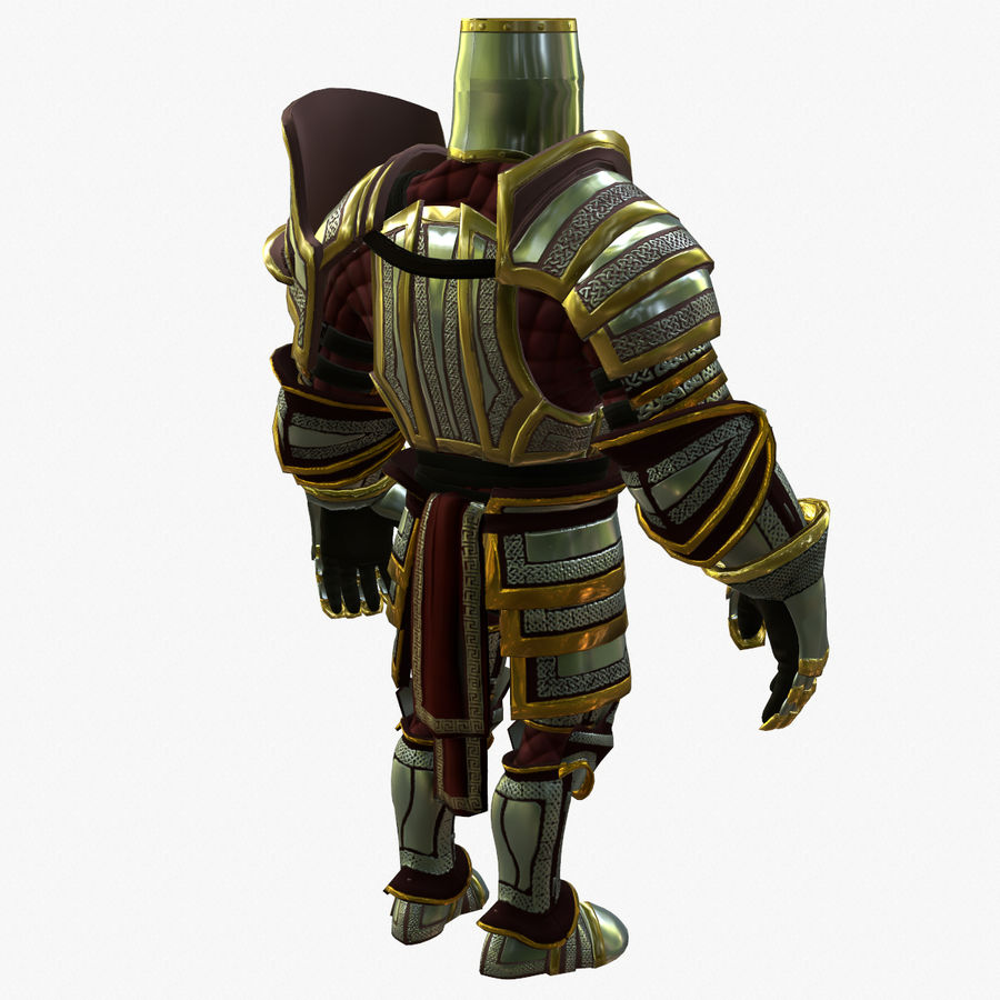 Game Knights (Series A) K2b royalty-free 3d model - Preview no. 8