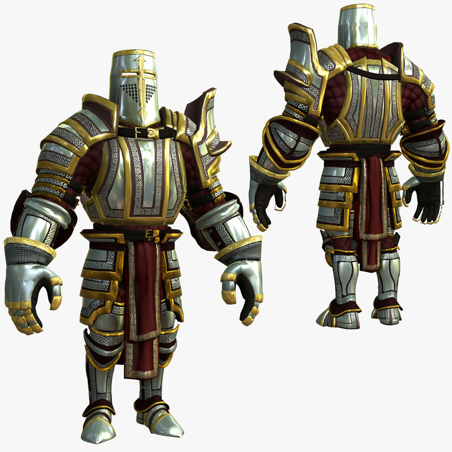 Game Knights (Series A) K2b royalty-free 3d model - Preview no. 1
