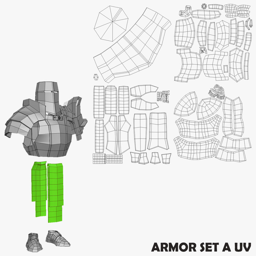 Game Knights (Series A) K2b royalty-free 3d model - Preview no. 26