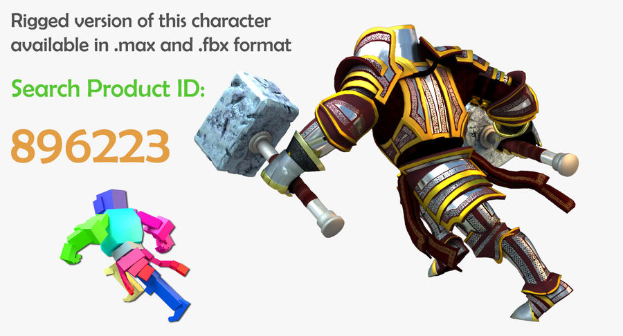 Game Knights (Series A) K2b royalty-free 3d model - Preview no. 2