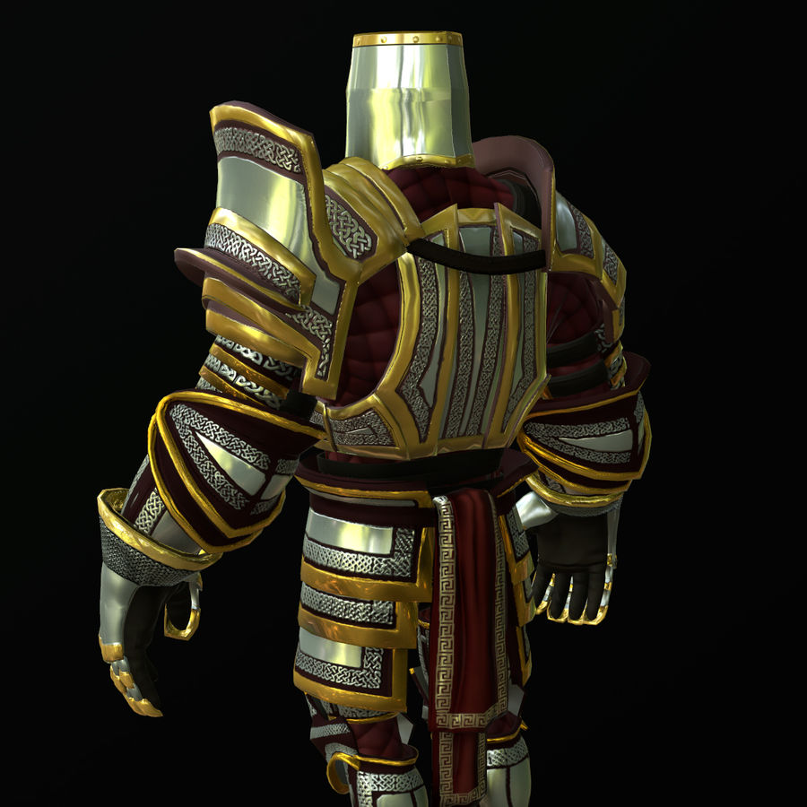 Game Knights (Series A) K2b royalty-free 3d model - Preview no. 19
