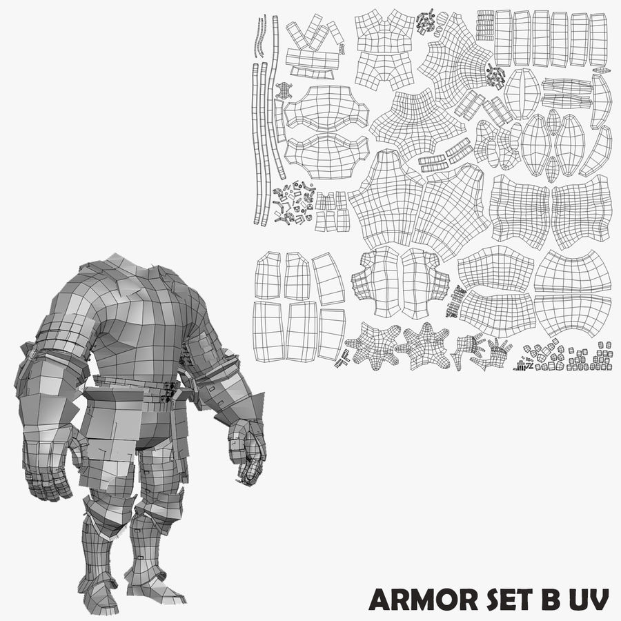 Game Knights (Series A) K2b royalty-free 3d model - Preview no. 27