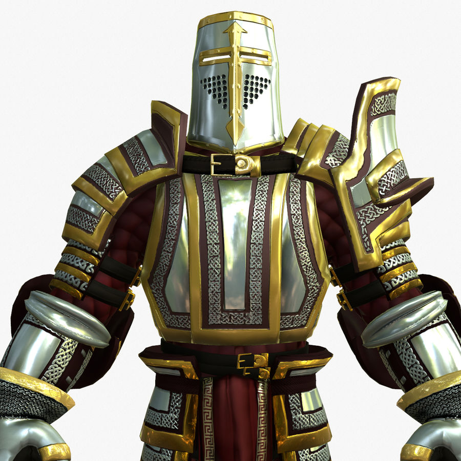 Game Knights (Series A) K2b royalty-free 3d model - Preview no. 12