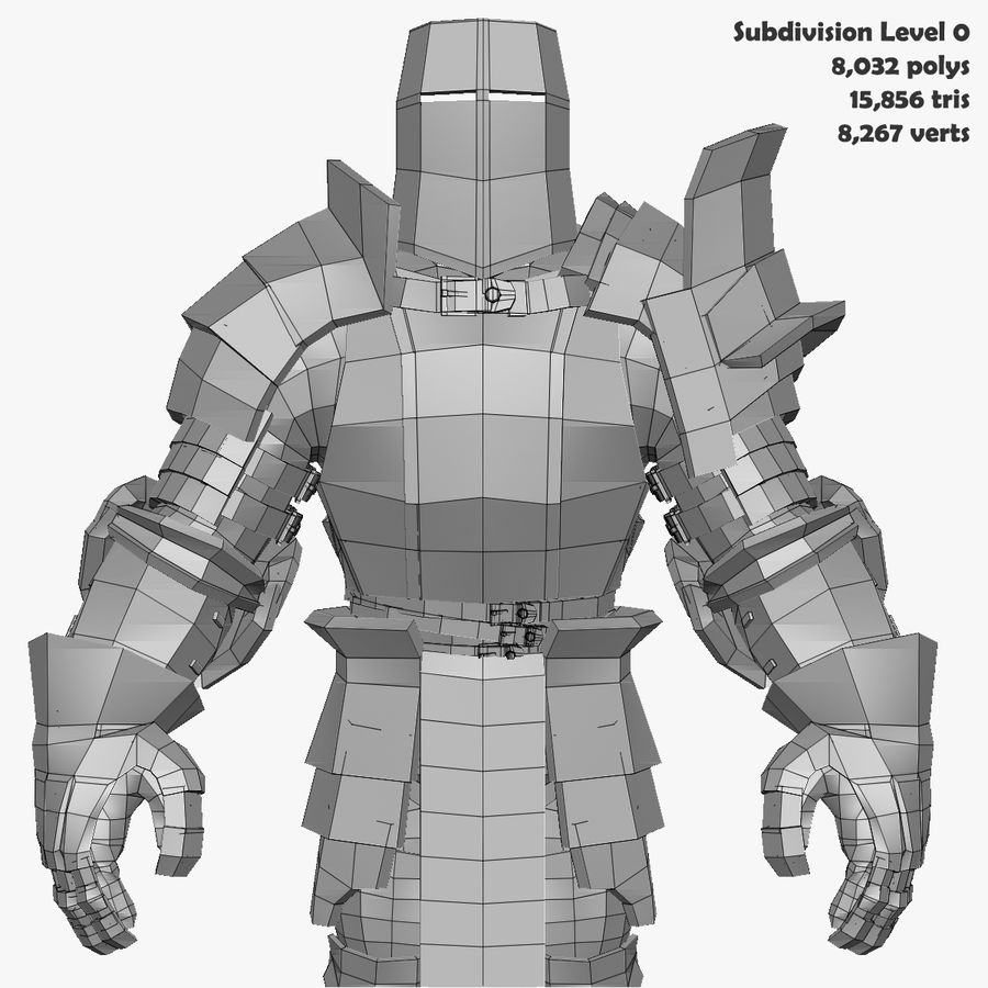 Game Knights (Series A) K2b royalty-free 3d model - Preview no. 32