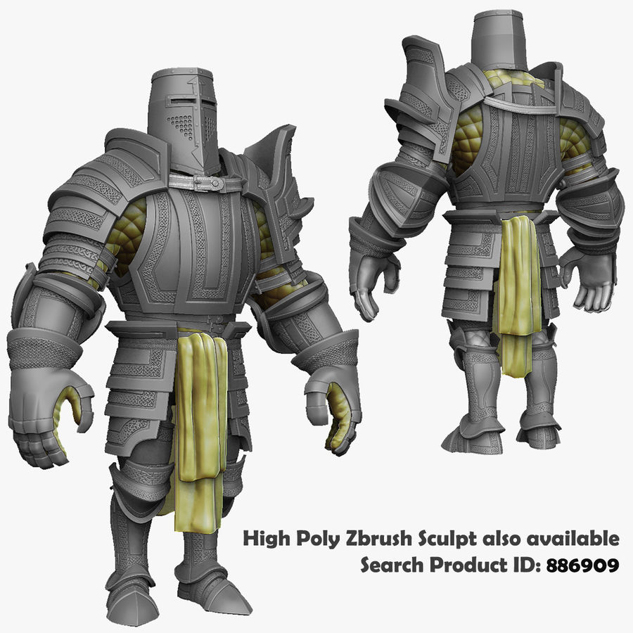 Game Knights (Series A) K2b royalty-free 3d model - Preview no. 34