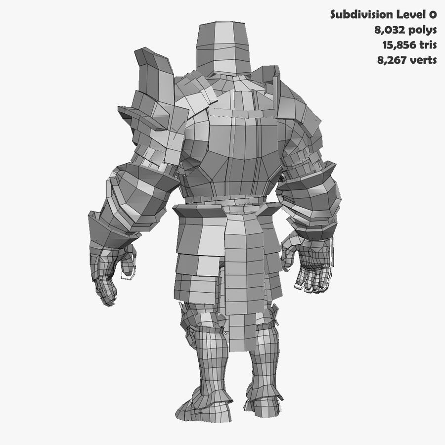Game Knights (Series A) K2b royalty-free 3d model - Preview no. 29
